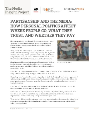 Partisanship and the Media: How Personal Politics Affect Where People Go, What They Trust, and Whether They Pay