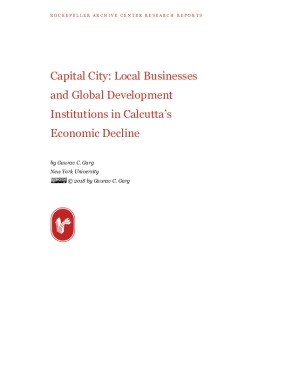 Capital City: Local Businesses and Global Development Institutions in Calcutta's Economic Decline