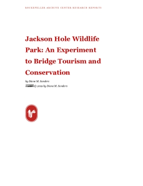 Jackson Hole Wildlife Park: An Experiment to Bridge Tourism and Conservation