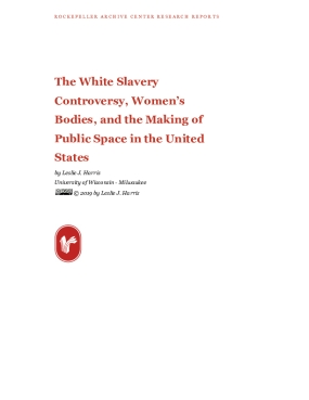 The White Slavery Controversy, Women's Bodies, and the Making of Public Space in the United States