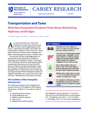 Transportation and Taxes: What New Hampshire Residents Think About Maintaining Highways and Bridges