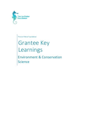 The Ian Potter Foundation Grantee Learnings - Environment & Conservation and Science